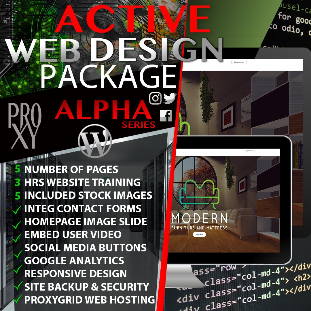 Alpha Active Web Design Package Proxsymmetry